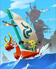 Link sails the Great Sea