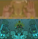 Behind the Lizalfos you can see the above image, and it seems to resemble Gohdan from The Wind Waker