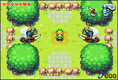 Link and two Moblins from The Minish Cap