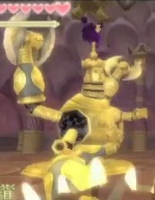 The Gold Statue boss from the GDC trailer; the dark cloud on its head looks like the dark clouds used in the new trailer
