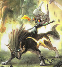 Midna with Wolf Link