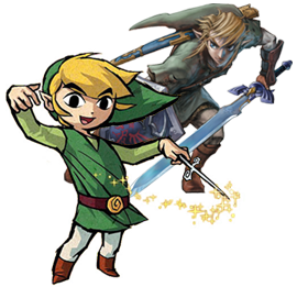 Link from Twilight Princess and The Wind Waker