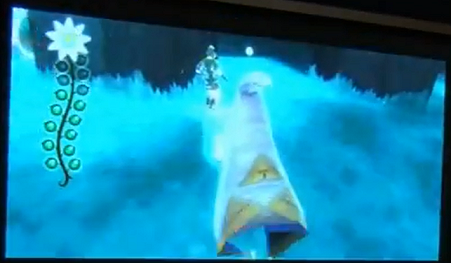 Notice the meter to the left, and also what appears to be a Triforce on the Guardian's robe.
