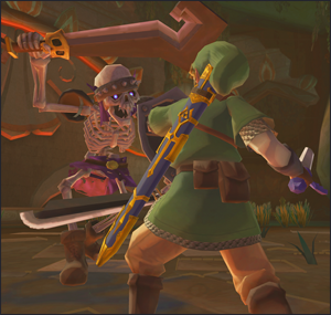 Link and a Stalfos in Skyward Sword