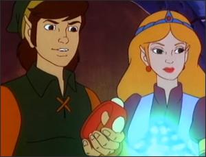 Link and Zelda from the Legend of Zelda cartoon