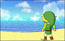 Link looking towards the sea