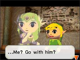 Zelda and Link from Spirit Tracks