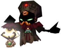 Sharp in Majora's Mask, with a brooch resembling Igos'