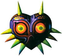 Majora's Mask, images of which appear throughout Stone Tower