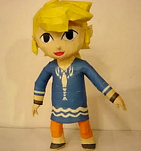 Papercraft Zelda And Other Nintendo Characters.
