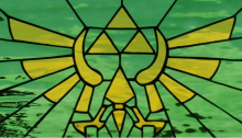 Stained Glass Hylian Crest