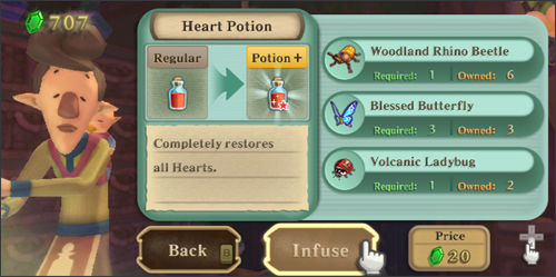 Upgrading Potions