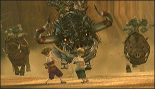 The children from Twilight Princess being kidnapped