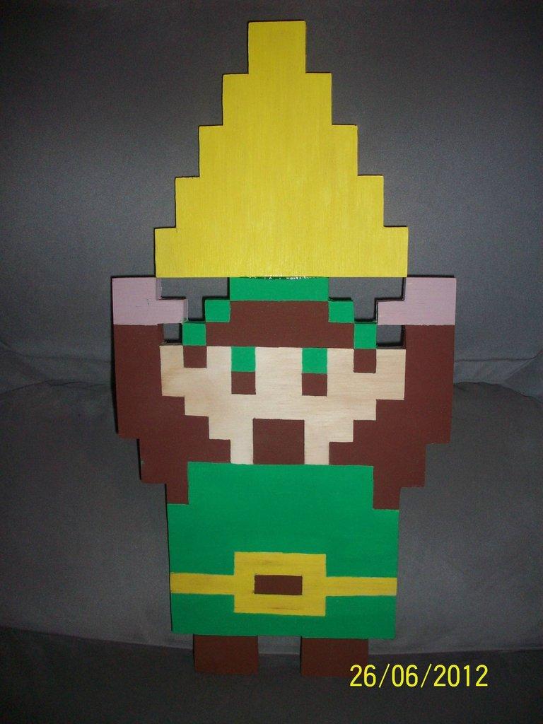 Handmade Wooden 8 Bit Link Zelda Dungeon