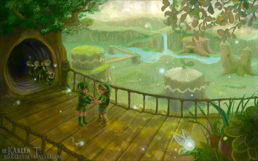 Zelda Fanart Spotlight - Leaving the Forest - Zelda Dungeon