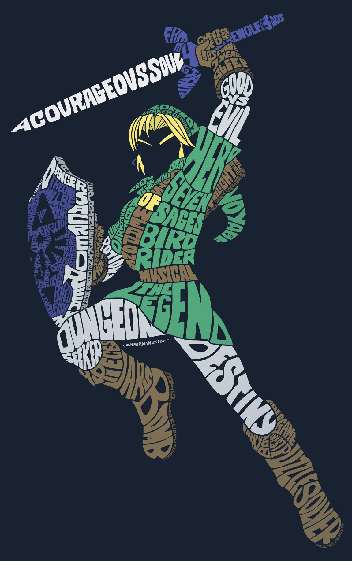amazing link typography fanart and t shirt zelda dungeon