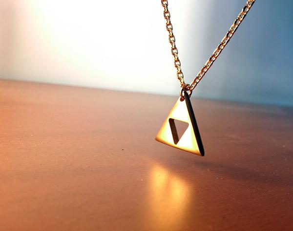 Triforce Necklace Legend of Zelda Polished Stainless Steel
