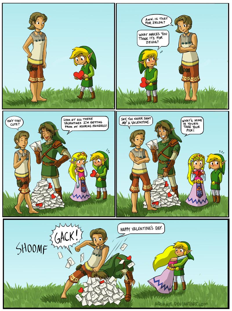 Monday Comic Corner Ilia Says Happy Valentines Day Zelda Dungeon – Legend of Zelda Valentine Card