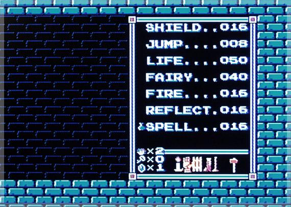 Zelda II Spell List