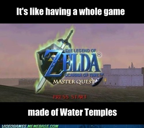 h33ACF066 majora's memes it was like this when i found it! zelda dungeon,Water Temple Meme