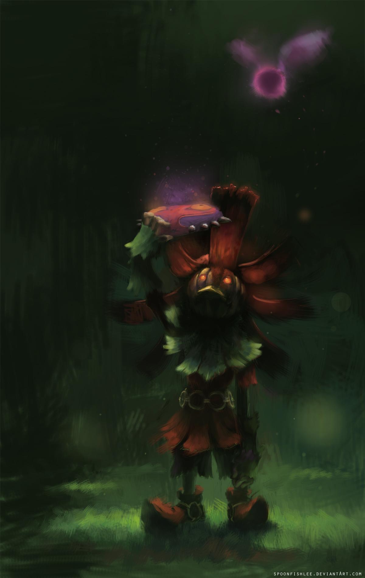 Zelda Fanart Spotlight Skull Kid Majoras Mask Dungeon