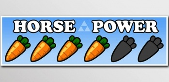 Show off your Zelda horse power with a bumper sticker