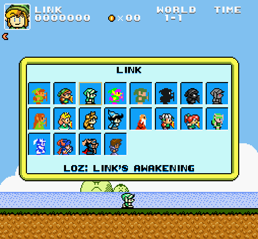 Play as linkzeldadark link in super mario bros crossover 30 super mario bros screen shot 2013 08 01 at 101203 am gumiabroncs Gallery