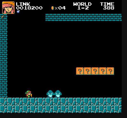 Play as Link/Zelda/Dark Link in Super Mario Bros  Crossover