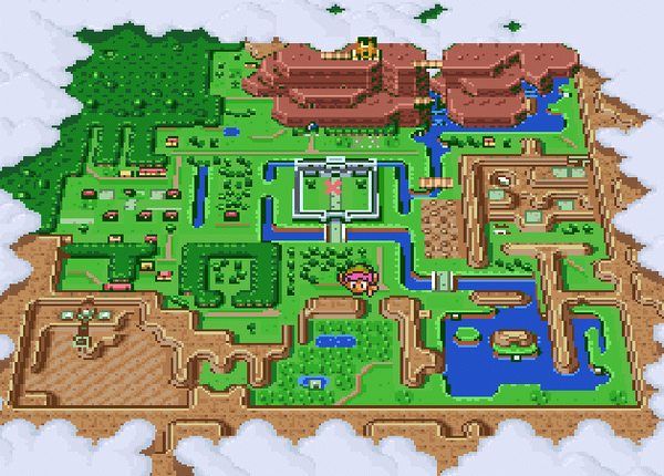 Incredible A Link to the Past Map Cross Stitch – Zelda Dungeon