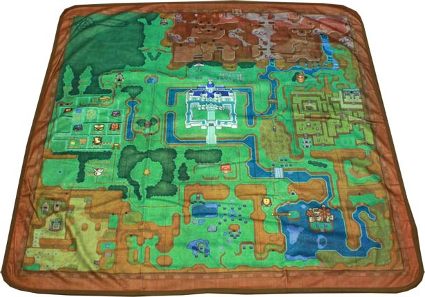 A Link Between Worlds Blanket Zelda Dungeon - World map blanket