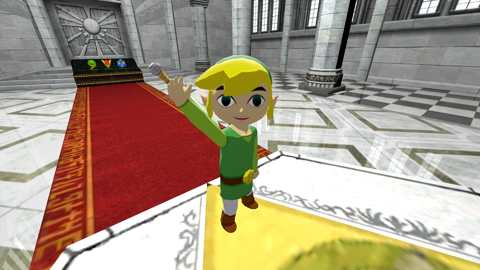 why link cannot draw his sword from his back an