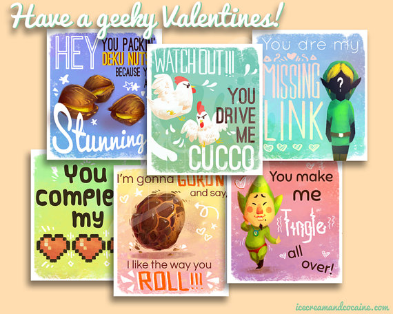 Legend Of Zelda Valentine S Day Cards Will Fill Your Heart