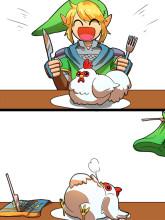 Link VS Cucco