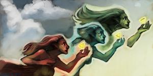 http://mudora.deviantart.com/art/Three-Goddesses-Speed-Paint-176057592