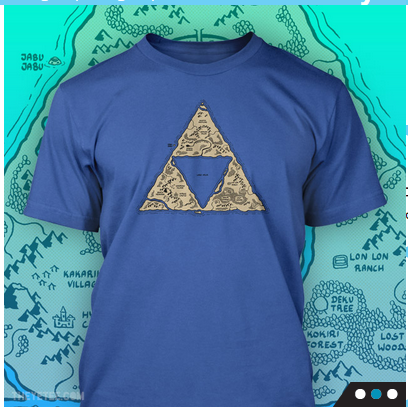Two Zelda Shirts Available at The Yetee Today Only - Zelda