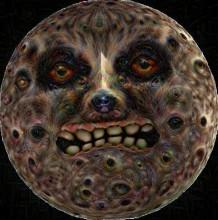 Deep Dream Moon