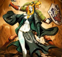 http://www.deviantart.com/art/Zelda-Midna-and-Link-193993110