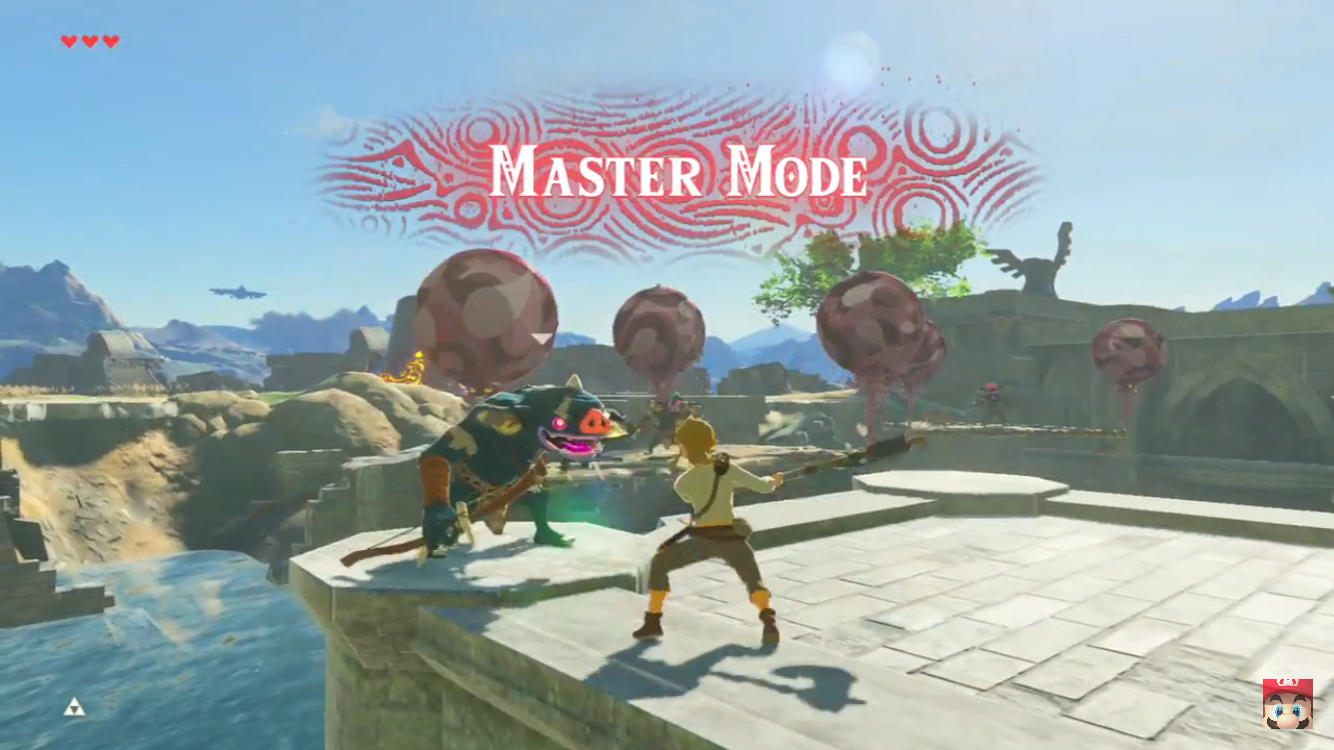 Breath of the wild master mode shown off in a new trailer for Master moda