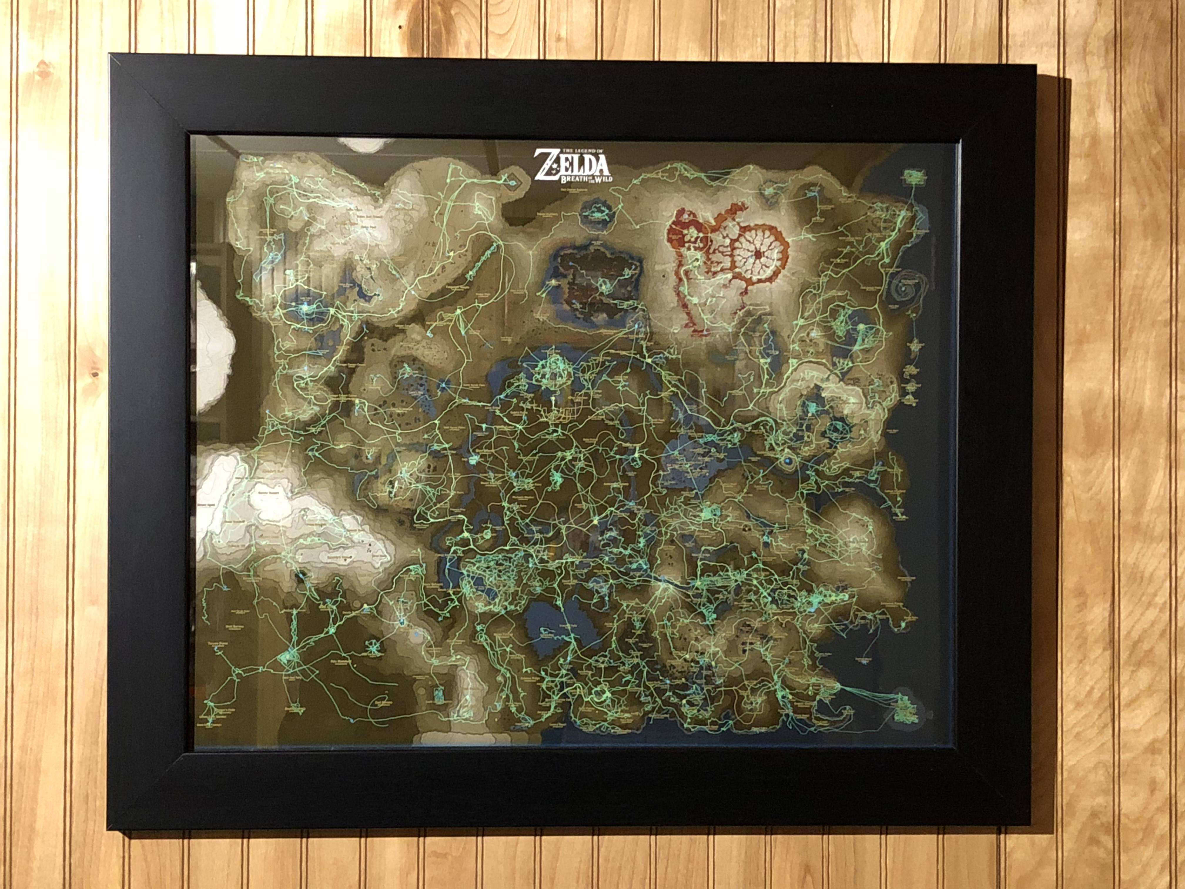 Zelda Fan Uses Breath of the Wild's Hero's Path to Map Their Entire on