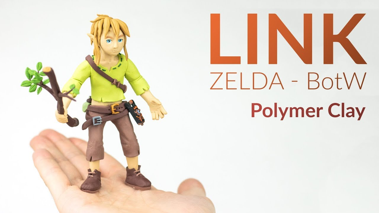 Learn To Make Breath Of The Wild Link Out Of Polymer Clay