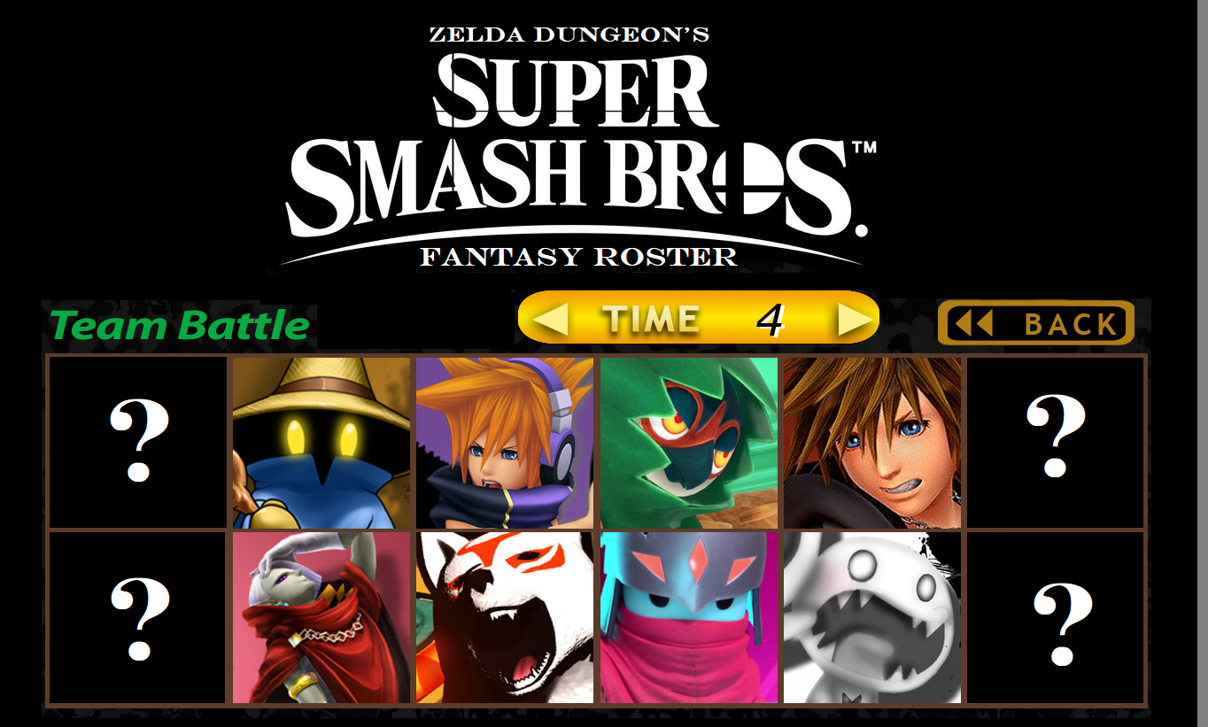 Zelda Dungeon's Fantasy Smash Bros  Roster - All Our Dream