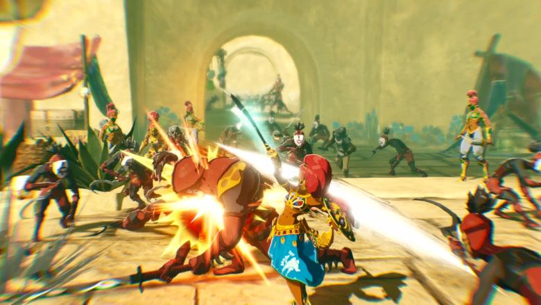 New Hyrule Warriors Age Of Calamity Gameplay Shows Off Urbosa And Princess Zelda In Action Zelda Dungeon