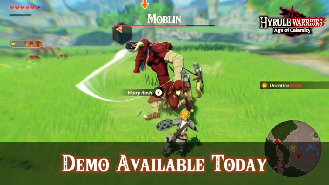 Demo For Hyrule Warriors Age Of Calamity Available Today Zelda Dungeon