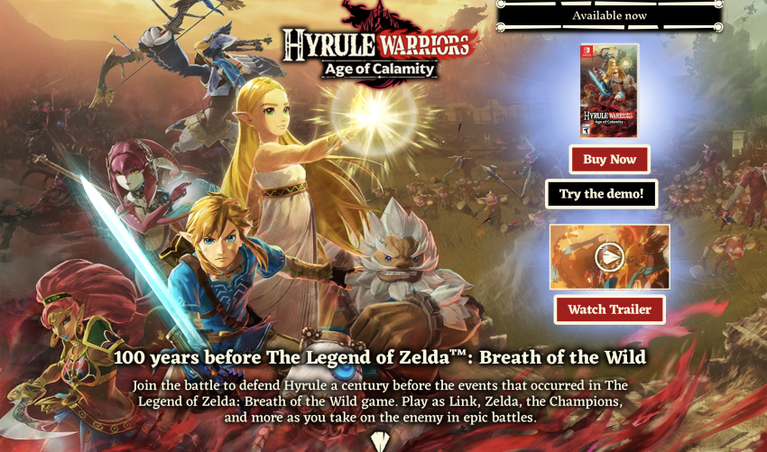 Why Hyrule Warriors Age Of Calamity S Biggest Failing Is Its Advertising Zelda Dungeon