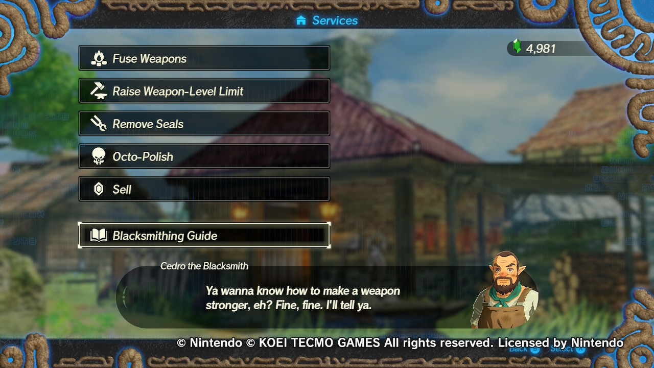 Hyrule Warriors: Age of Calamity Adds Blacksmithing Guide In Newest Update