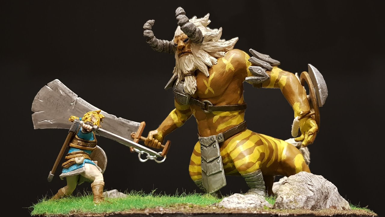 """Break the Mold with this """"Link vs. Lynel"""" Clay Diorama"""