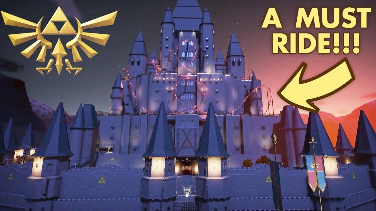 Zelda Fanatic Creates an Elaborate Zelda Roller Coaster in Planet Coaster